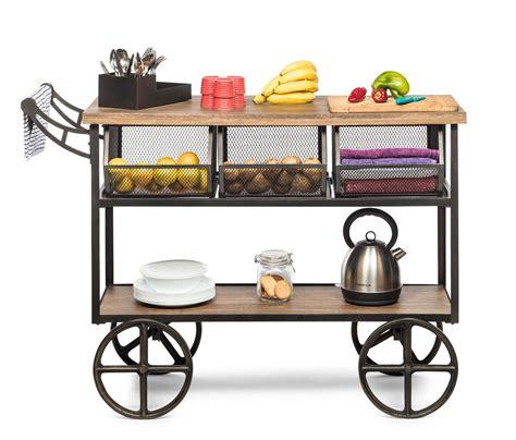 kitchen trolley island bench storage organiser with drawer
