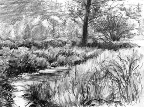 pencil sketches  nature scenery pencil sketch scenery
