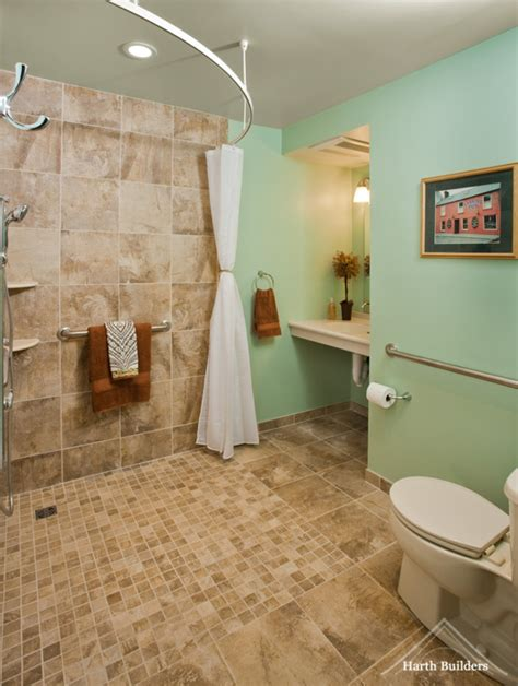 Ada Bathroom Designs by Accessible Shower Room Image Harth Builders Cool