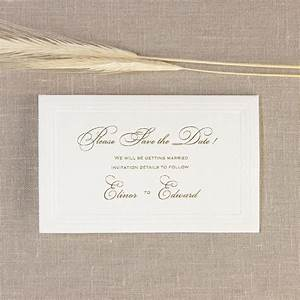 simple elegant embossed save the date reply thank you With traditional wedding invitations embossed