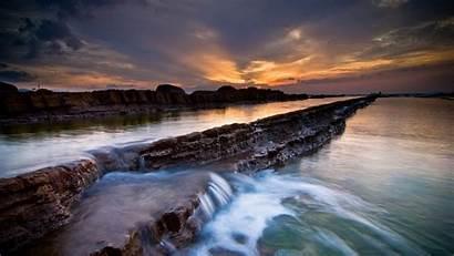 1080p Wallpapers Sunset Backgrounds Playa 1080 Puesta
