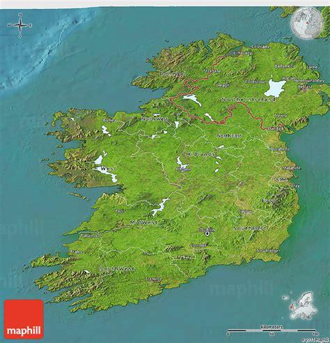 topographic map  ireland