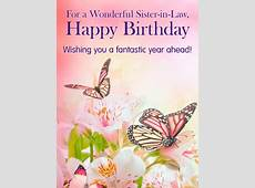 Butterflies & Flowers Happy Birthday Card for Sisterin