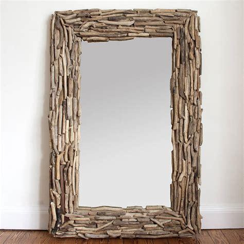 driftwood mirror large rectangular driftwood mirror by decorative mirrors online notonthehighstreet com