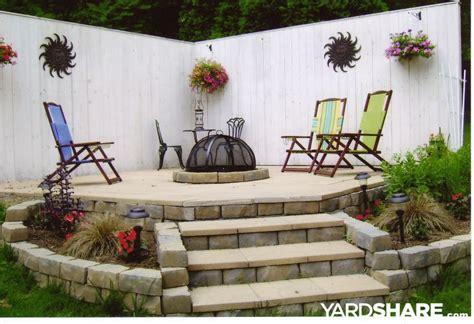 landscaping ideas gt roxi s firepit patio yardshare