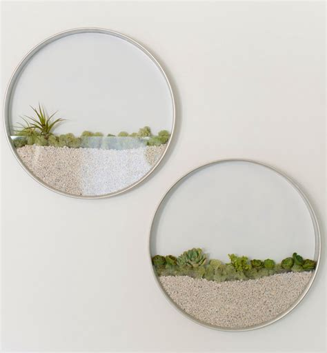 window sill planter circular framed planters add living to your walls