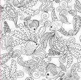 Coloring Ocean Pages Adults Printable sketch template