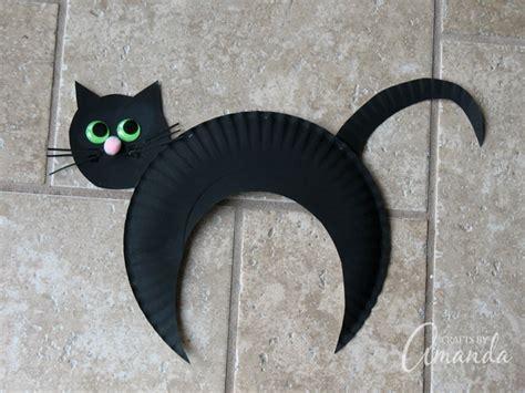paper plate black cat crafts  amanda paper plate