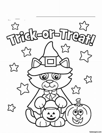 Halloween Themed Drawing Coloring Draw Sheet Getdrawings