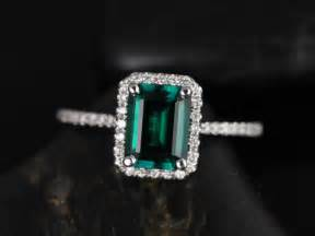 emerald gold engagement rings rosados box esmeralda 8x6mm white gold rectangle emerald and halo engagement ring