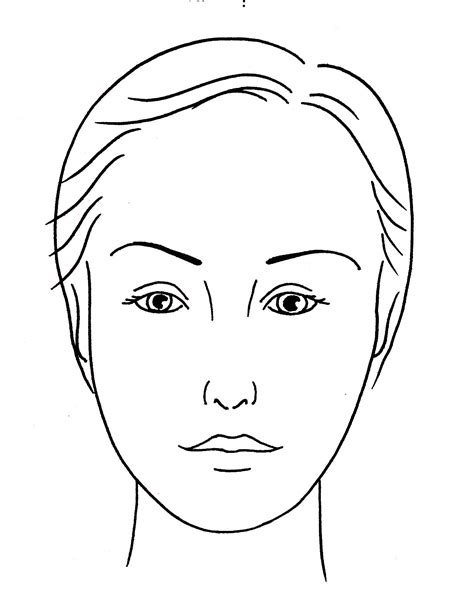 makeup template make up application