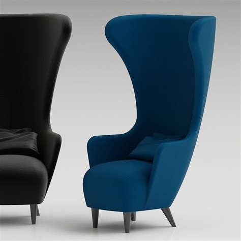 high back wingback chair 3d tom dixon wingback chair high quality 3d models