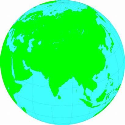 India Asia Earth Globe Clipart Showing Illustration
