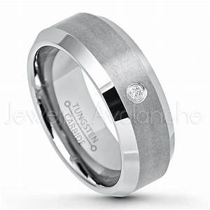 007ct diamond solitaire ring 8mm brushed finish comfort With brushed beveled edge wedding ring