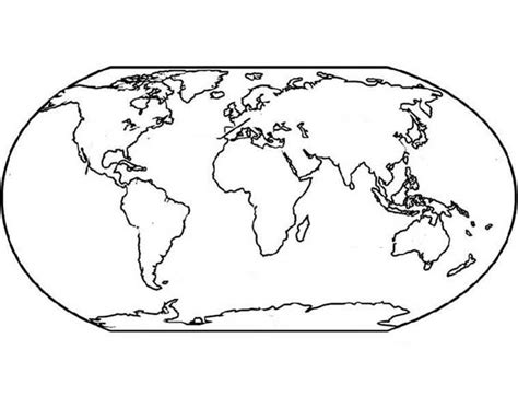 world map  education coloring page world map