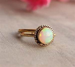 gold opal ring opal ring engagement ring wedding With october birthstone wedding rings