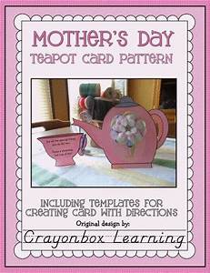 Teacup Mother S Day Card Template Mother 39 S Day Teapot Card Template Think Crafts By