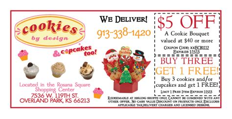 cookies by design coupons of kansas city shopping