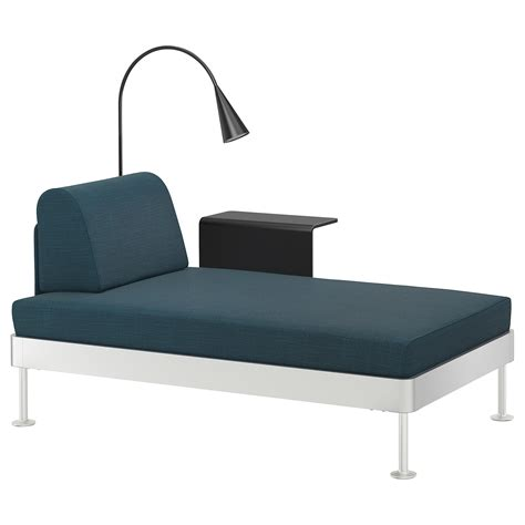 chaise en teck ikea delaktig chaise longue w side table and l hillared