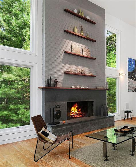 design idea    fireplace stack  shelves