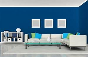 Interior Design House Furniture In Blue Home Room Color
