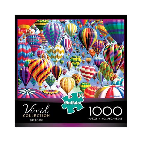 Buffalo Games & Puzzles Vivid Collection   Sky Roads: 1000 Pcs