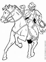 Cowboy Coloring Horse Pages Rodeo Printable Cowboys Adult Drawing Boys Horses Western Cowgirl Books Colouring Riding Drawings Cartoon Printables Burning sketch template