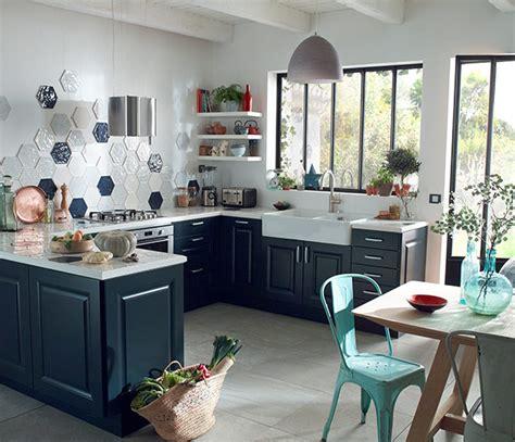 les cuisines de marine inspirations d 233 coration castorama le bleu industriel rappels de bleus