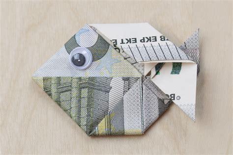 fische aus geld basteln der fisch geldschein falten