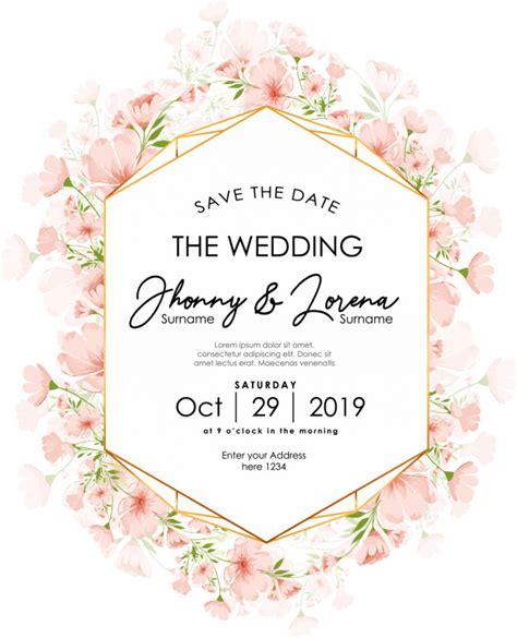 Premium Vector Floral wedding invitation card template