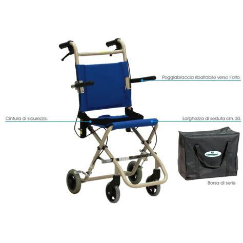sedia a rotella carrozzina da viaggio pieghevole superleggera termigea