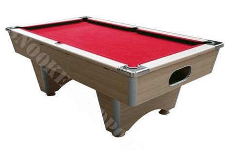 red pool table light light oak reconditioned freeplay pool table