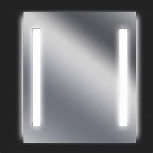 miroir lumineux avec eclairage integre l60 x h70 cm ayo With carrelage adhesif salle de bain avec tube a led