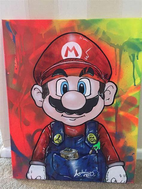 Mario Street Art Painting Video Game Art Pinterest