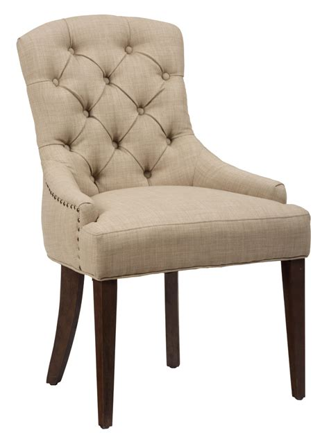 jofran upholstered side chair with button tufting and