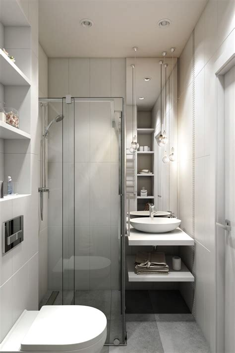 small apartment  modern minimalist interior design bathroom small bathroom  shower