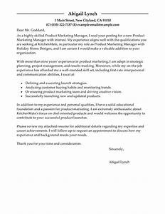 best product marketer cover letter examples livecareer With marketing letter for services