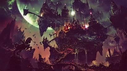 Fantasy Dark Flying Wallpapers Digital Fan Concept