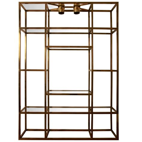 brass bookcase large gilt brass shelves or bookcase at 1stdibs