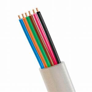 Phone Cable Flat 6 Wire  Solid  Silver