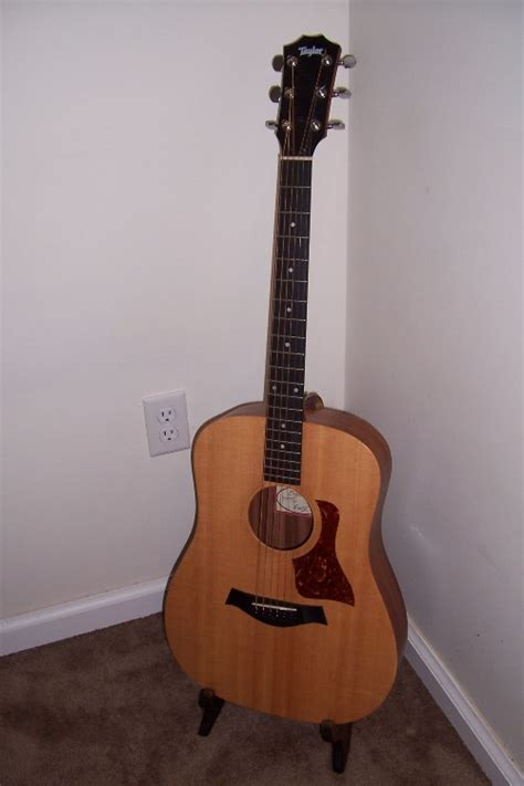 homemade wooden guitar stand