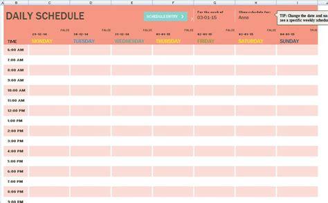 task scheduler template printable schedule template