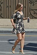 Ronda Rousey in Short Floral Dress -05 – GotCeleb