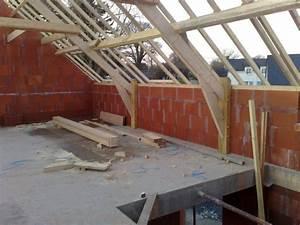 charpente sur maison ossature bois 4 messages With ordinary maison brique et bois 13 toiture monopente 4 messages
