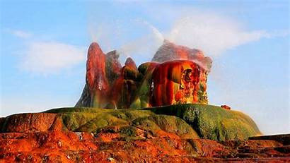 Nevada Geyser Fly Wallpapers Rock Water Colorful