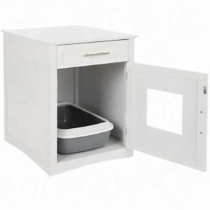 Plan De Toilette Bois : maison de toilette pour chat meuble sous lavabo ~ Teatrodelosmanantiales.com Idées de Décoration