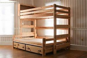 Bunk Bed Plans Twin Over Full BED PLANS DIY & BLUEPRINTS
