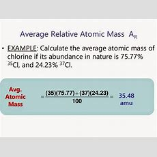 Savvychemist The Mole (1) Relative Atomic Mass (ar) And The Mass Spectrometer