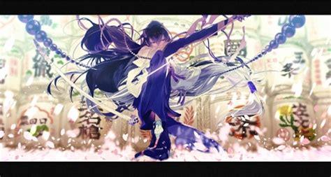 samurai girl  anime background wallpapers