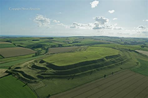 maiden castle dorset  july  temporary temples